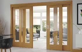 wooden drawing room door design with glass