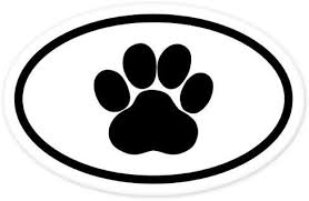 Amazon Com Paw Oval Car Bumper Sticker Window Decal 5 X 3 Kitchen Dining