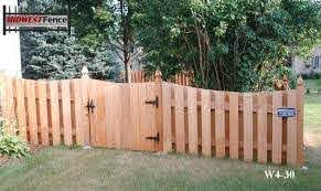 4 Foot High Wood Private Fences Minneapolis St Paul Midwest Fence For Our Side Yard Wood Fence Fence Design Fence