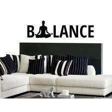 Shop Mantra Balance Yoga Meditation Wall Art Sticker Decal Overstock 11701855