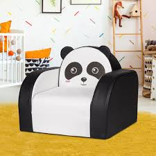 Shop Kinbor Kids Sofa Children Couch Armrest Chair Toddler Lounge Bed 3 In 1 Flip Open Foam Sofa For Play Game Rooms Panda Overstock 31491224