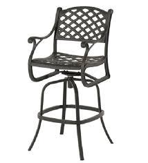 cast aluminum patio furniture swivel
