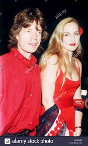 Mick Jagger singer with model Jerry Hall Stock Photo - Alamy
