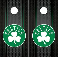 Boston Celtics Cornhole Wrap Nba Game Board Skin Set Vinyl Decal Art Co561 Unbranded In 2020 Cornhole Wraps Vinyl Decals Cornhole
