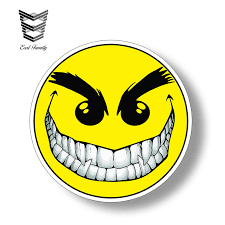 Ouch Laugh Smiley Vinyl Graphic Decal Car Bumper Sticker Archives Midweek Com