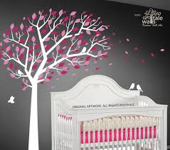 Large Forest Tree Wall Decals With Bird Decals For Nursery
