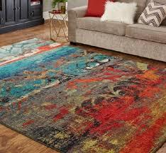 abstract multicolor area rug 5 x8