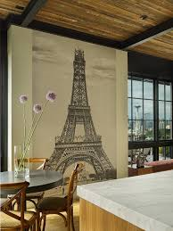 Seattle Wall Decals Dining Room Contemporary With Floor To Ceiling Windows Tables Eiffel Tower