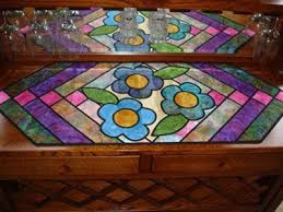 quilt as you go table runner from