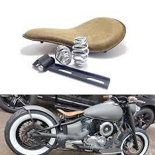 retro leather motorcycle seat spring