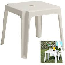 sun lounger side coffee table white