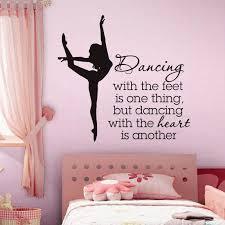 Elegant Ballet Dancer Wall Stickers For Dancer School Girls Bedroom De Decalsart Com