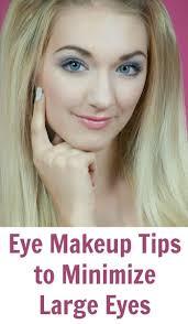 eye makeup tips to minimize large eyes