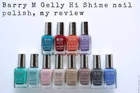 barry m gelly hi shine nail polish my