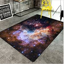 Amazon Com Lctcdt Super Soft Modern Universe Galaxy Space Stars Area Rugs Living Room Carpet Bedroom Rug For Children Play Solid Home Decorator Floor Rug And Carpets Color A Size 80120cm