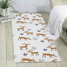 Amazon Com Deer Carpet 70 X 24 Runner Rug Kids Rugs Area Rug Shag Rug Home Kitchen