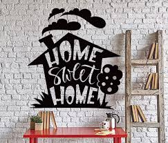 Wall Vinyl Decal Home Sweet Home Living Room Quote Words Home Decor Un Wallstickers4you