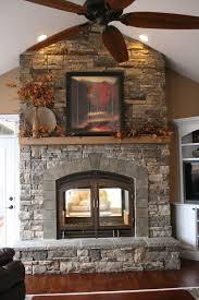 custom see through wood fireplace