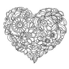 Abstract Heart Coloring Pages For Grown Ups Heart Coloring Pages