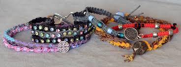 how to macramé a hemp bracelet rings