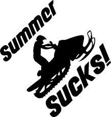 Snowmobile Summer Sucks Funny Vinyl Decal Sticker Sled 2 99 Picclick