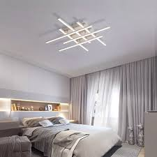crossed lines modern ceiling light