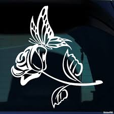Decal Butterfly And Rose Buy Vinyl Decals For Car Or Interior Decal Factory Stickerpro Different Colors And Sizes Is Avalable Free World Wide Delivery