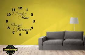 Wall Art Decal Large Clock A Moment In Time Changed Forever Etsy