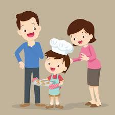 Dzieci Gotują Ciasteczka | Premium Wektor