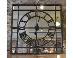 roman numeral clock with mirror