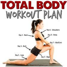 total body weekly workout plan tone