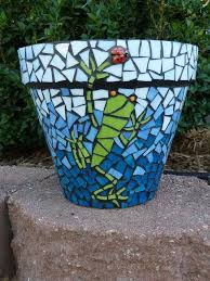 mosaic flower pots mosaic garden art