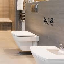 Shop Thinking Room Toilet Sticker Paper Decals Bathroom Washroom Apartment Decoration White Overstock 29552477