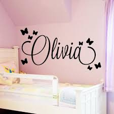 Large Size Personalized Custom Name Wall Art Decal Babys Wall Stickers Material For Kids Girls Boys Bed Room Decoration Mural White Wall Decals White Wall Stickers From Supper007 2 22 Dhgate Com