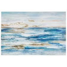 foiled ocean canvas wall decor hobby