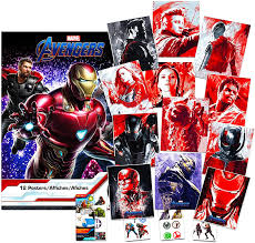 Amazon Com Marvel Avengers Poster Book 12 Avengers Posters For Wall Decor Room Decor With Bonus Avengers Decals Marvel Avengers Posters For Wall Arts Crafts Sewing