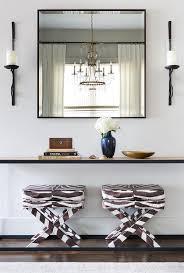 white and black zebra x stools under