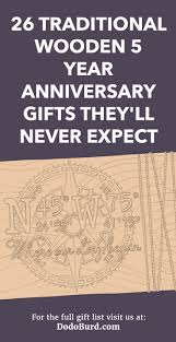 wooden 5 year anniversary gifts