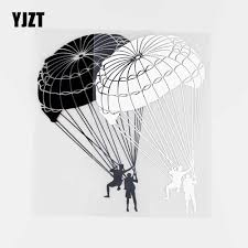 Yjzt 11x17cm Skydiver Vinyl Decal Skydiving Extreme Sports Decoration Car Stickers Black Silver 10a 0068 Car Stickers Aliexpress