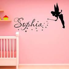 Name Wall Decal Fantasy Fairytale Magic Tinkerbell Peter Pan Disney Silhouette Name Decal For Nursery Decals Nursery Decals Baby Girl Bedroom Princess Nursery