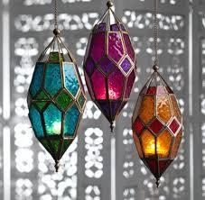 moroccan style iron hanging lantern