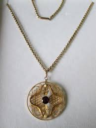 victorian 9ct gold pendant chain