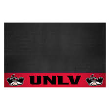 Fanmats Ncaa University Of Nevada Las Vegas Unlv Red Man Cave 5 Ft X 6 Ft Area Rug 17339 The Home Depot