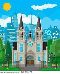 Exterior Catholic Vector Photo Free Trial Bigstock