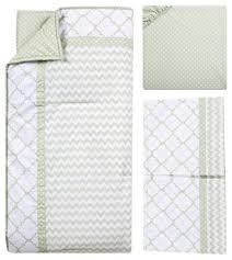 sea foam 3 piece crib bedding set sage