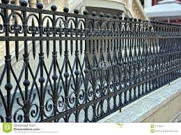 Wrought Iron Fence Stock Image Image Of Abstract Buildings 31165541