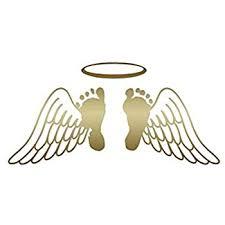 Amazon Com Baby Feet Memorial Angel Wings Vinyl Decal Sticker 12 X 5 75 Gold Home Improvement