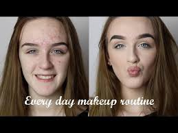 everyday makeup routine for acne