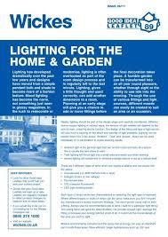 lighting for the home garden wickes