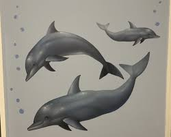 Dolphin Mural Design A Dophin Theme Kids Room With Dolphin Wall Decals